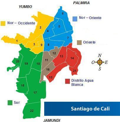 Santiago De Cali Comunas