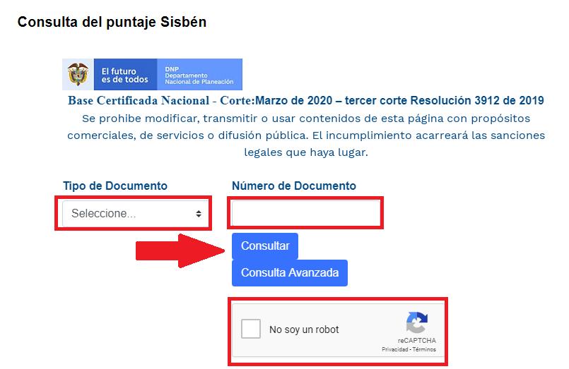 Afiliación Sisbén