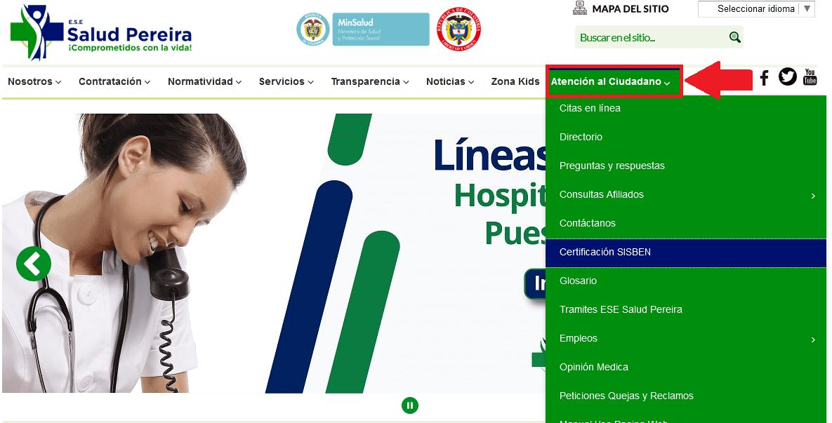 Consultar Sisbén Pereira