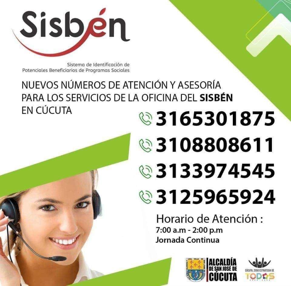 Oficinas Horarios Sisbén Cúcuta