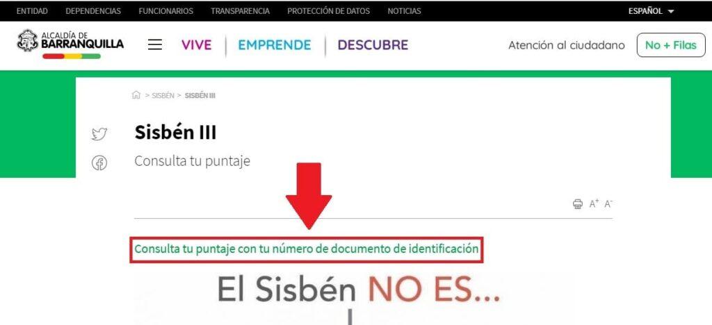 Consulta El Sisben Barranquilla En Linea